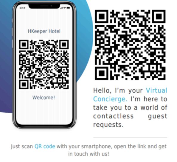 QR code Virtual Concierge software